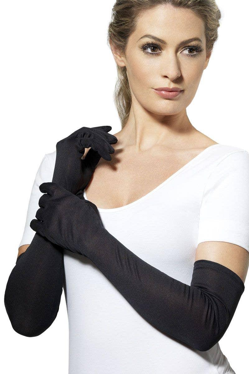 Leg Avenue Women/'s Mini Cropped Satin Gloves Black One Size