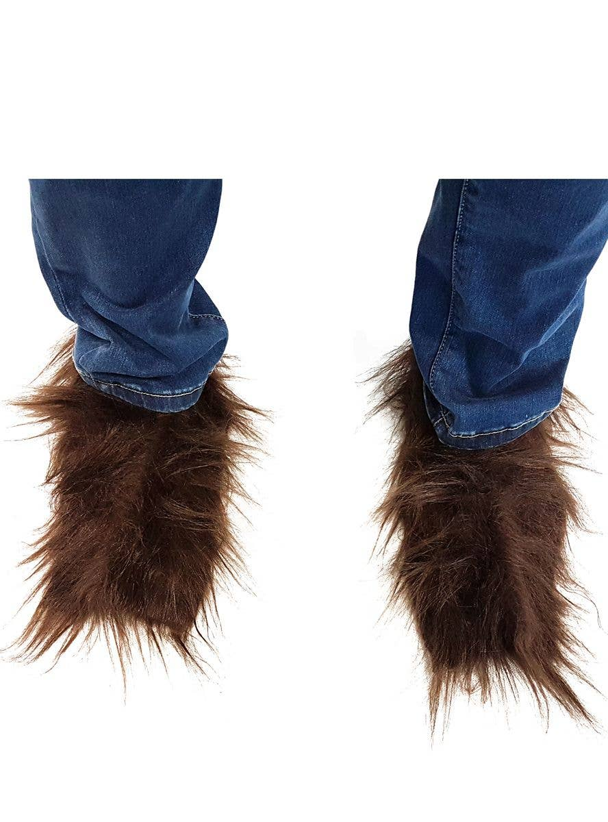 Brown Werewolf Costume Shoe Covers