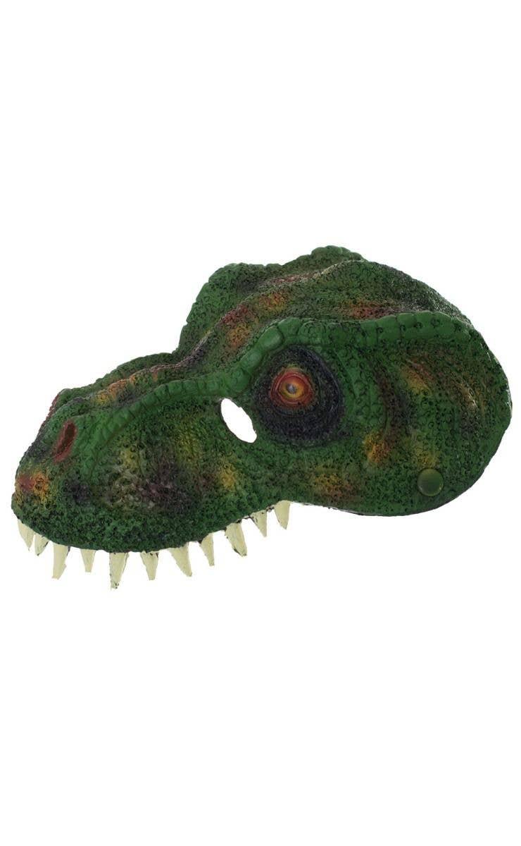 Green Dinosaur Costume Mask Tyrannosaurus Rex Foam Latex Mask