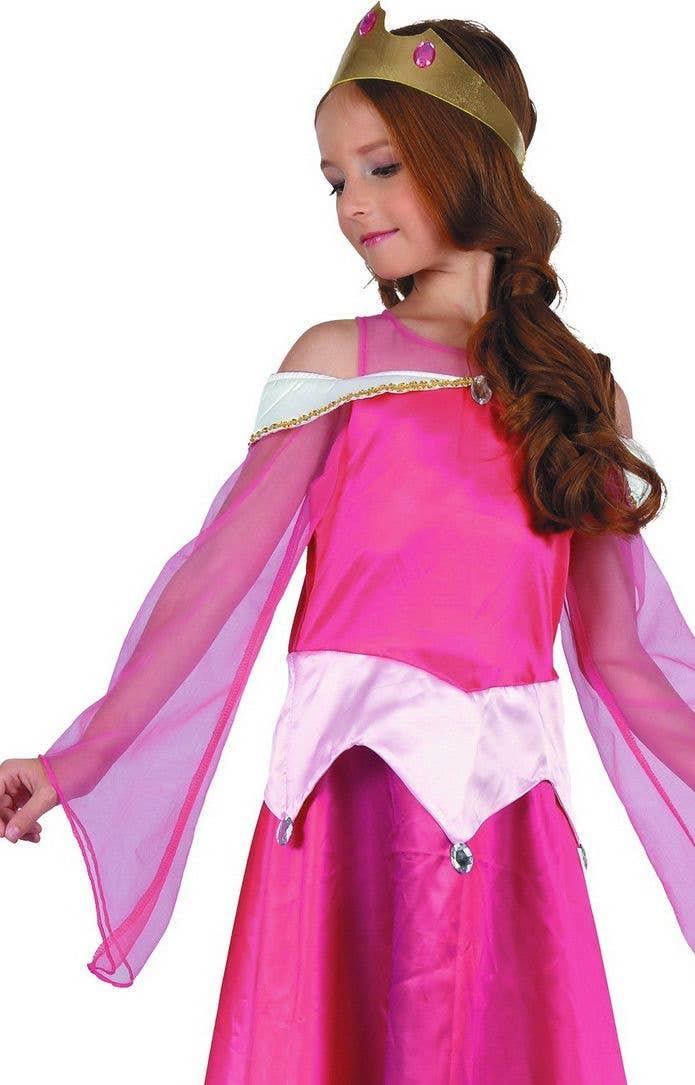 New Sleeping Princess Fancy Dress Costume Beauty Queen Fairytale Outfit Girls