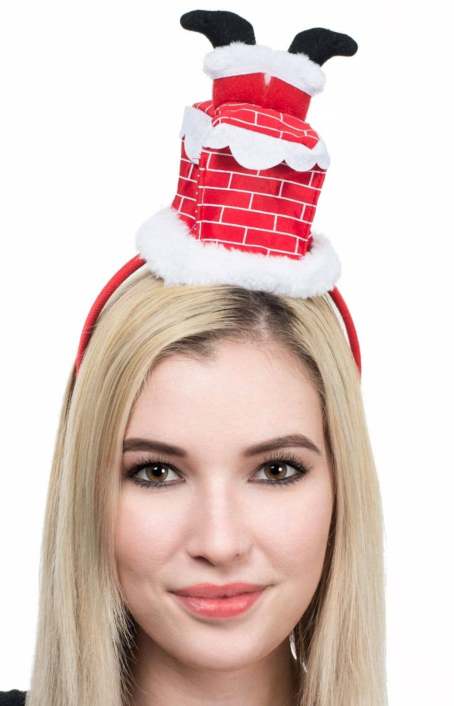 SANTA STUCK DOWN THE CHIMNEY HAT CHRISTMAS FANCY DRESS NOVELTY SECRET SANTA
