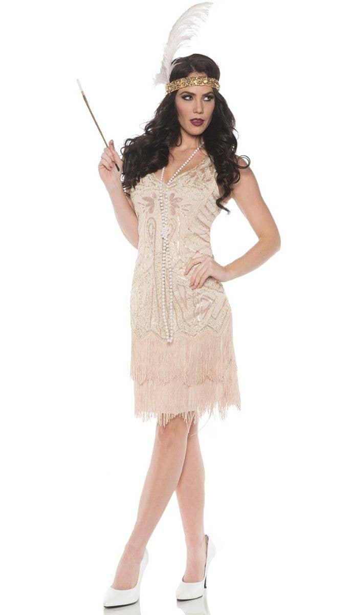 Elegant Moments Plus Size Classic Flapper Halloween Costume