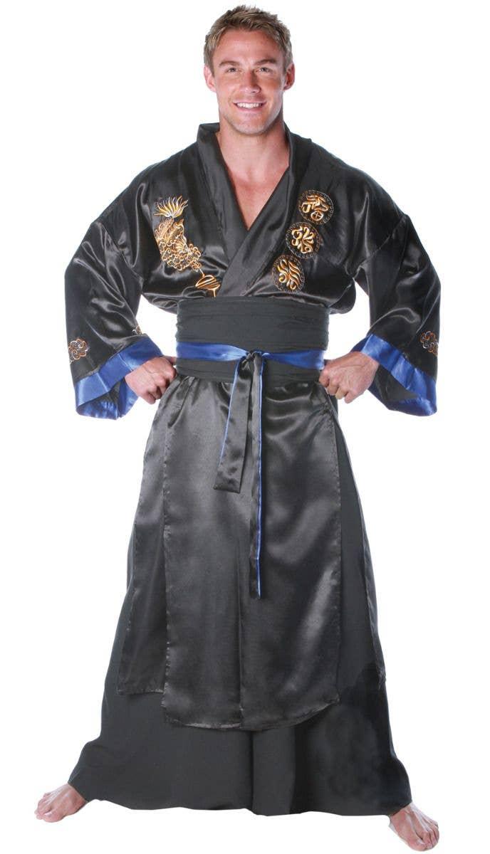 Mens Ninja Master Warrior Japanese Martial Arts Fancy Dress Costume Outfit