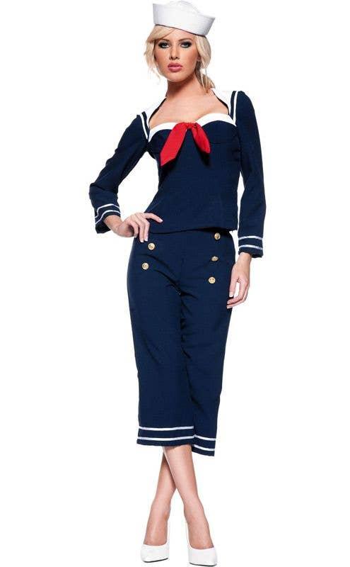 Lady In The Navy Sailor Nautical Lifesaver Handbag Purse Costume Accessory
