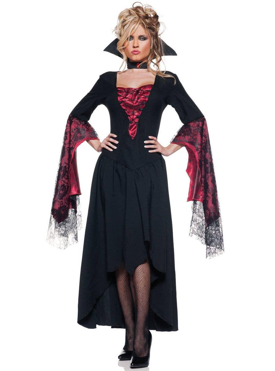 Black & Red Countess Halloween Costume   Women's Vampire ...
