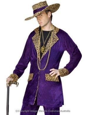Top Pimp Mac Daddy Costume - Purple