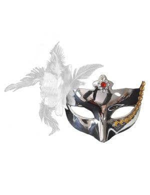 Bejewel Silver Mirrored Masquerade Mask