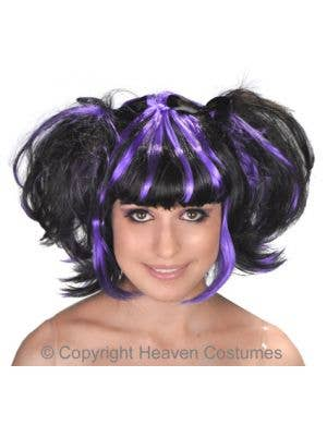 Gothic Bad Fairy Wig - Purple and Black- DELUXE