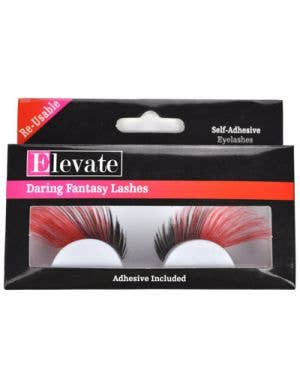 Jumbo Red and Black False Eyelashes