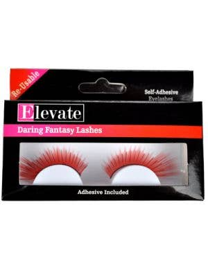 Tinsel Highlights Split Red False Eyelashes