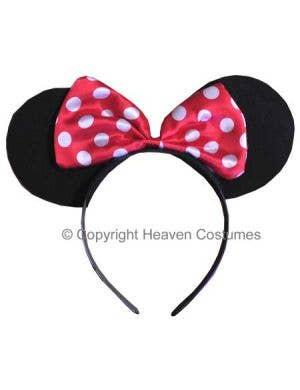 Minnie Mouse Costume Ears on Headband