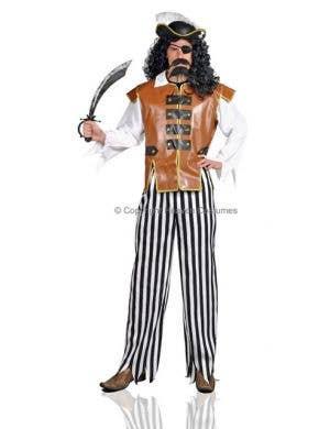 Caribbean Pirate Adult Fancy Dress Costume