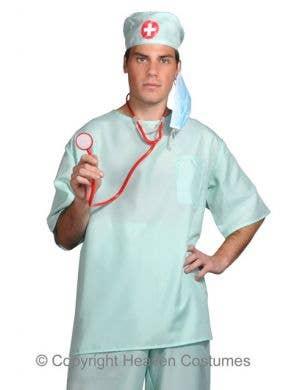 Surgical Scrubs Men's  Surgeon Fancy Dress Costume