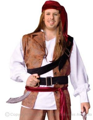 Pirate Captain Jack Men's Pirate Costume - Plus Size