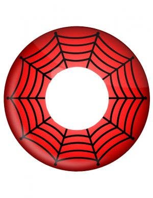 Red Web Spiderman One Day Contact Lenses