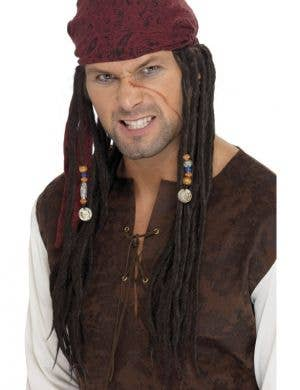 Buccaneer Dreadlocks Long Brown Pirate Wig