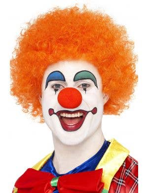 Crazy Clown Orange Afro Costume Wig