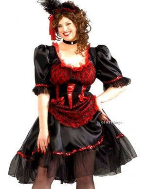 Wild West Saloon Girl Plus Size Women's Costume