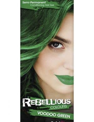 Vibrant Semi Permanent Voodoo Green Hair Dye - Small 13ml