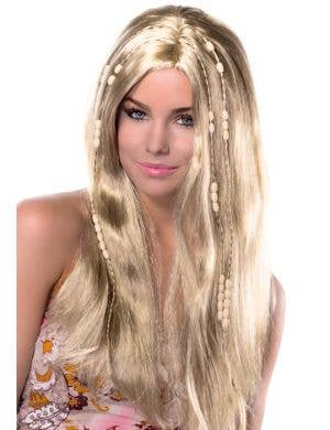 Love Child Women's Blonde Hippie Costume Wig