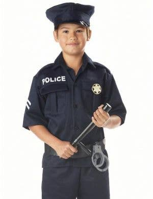Classic Police Officer Boys Fancy Dress Costume