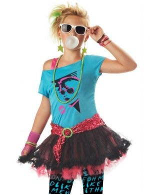 80's Valley Girl Kid's Rock Chick Costume