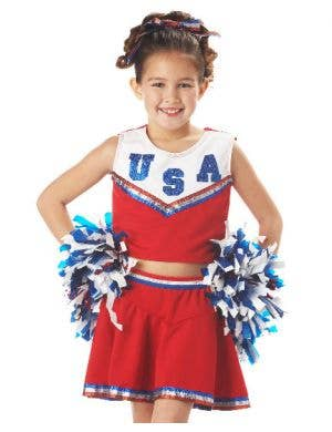 USA Cheerleader Girls Costume