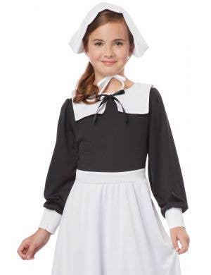 Pilgrim Girl Black and White Fancy Dress Costume
