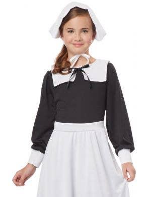 Pilgrim Girl Black and White Fancy Dress Costume