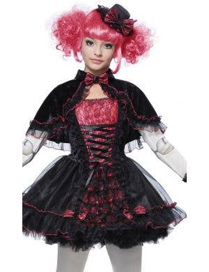 Dark Victorian Doll Black and Pink Girls Halloween Costume