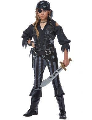 Rebel Pirate Girl's Fancy Dress Costume