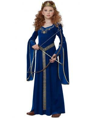Renaissance Princess Girl's Long Fancy Dress Costume