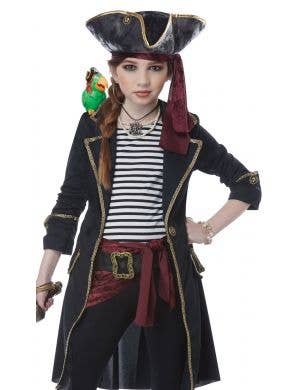 High Seas Captain Girl's Pirate Costume