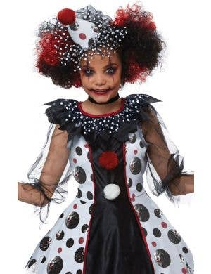 Scary Polka Dots Clown Girls Halloween Costume