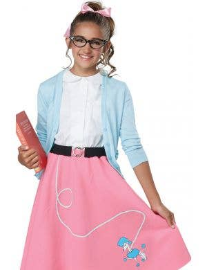 50's Poodle Skirt Girls Fancy Dress Costume