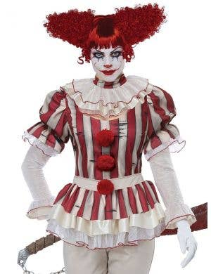 Sadistic Women's Deluxe Creepy Clown Halloween Costume
