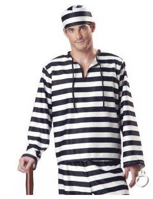 Jailbird Men's Prison Convict Costume