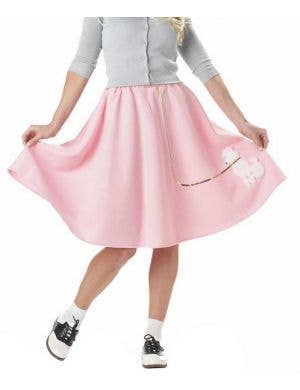 Flirty Fifties Retro Poodle Women's Costume Skirt