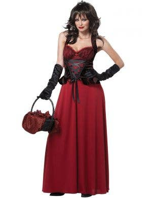Dark Red Riding Hood Plus Size Women's Costume