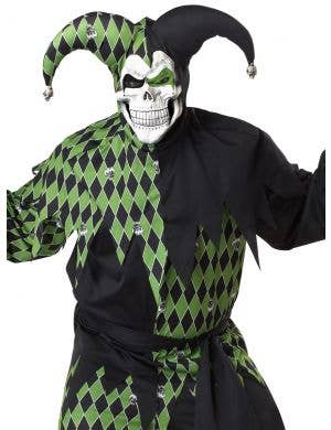 Jokes On You Men's Green Jester Halloween Costume