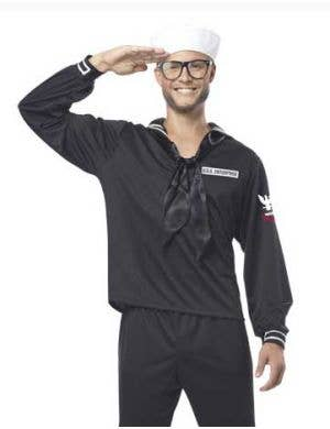 Navy Sailor Men's Costume in Black