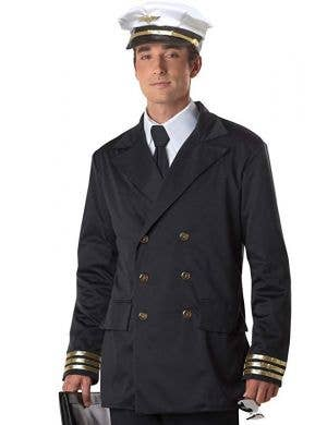 Airline Captain Men's Retro Pilot Uniform Costume