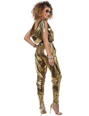 70's Glitz and Glamour Women's Gold Disco Costume