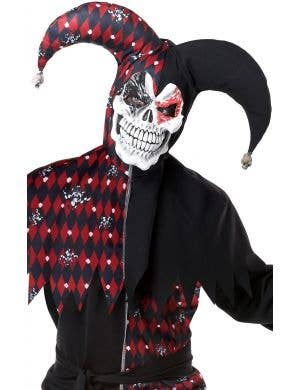 Sinister Court Men's Halloween Jester Fancy Dress Costume