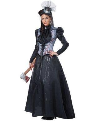 Lizzie Borden Axe Murderess Women's Halloween Costume