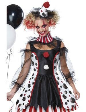 Twisted Clown Evil Women's Halloween Costume