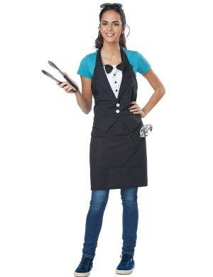 Adults Black and White Tuxedo Apron