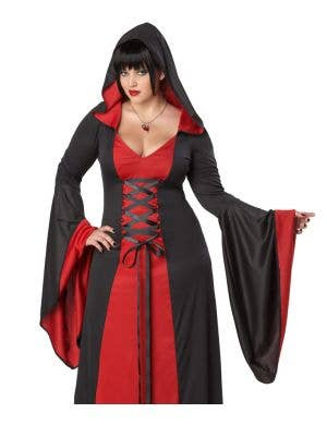 Hooded Plus Size Women's Red Halloween Costume Robe