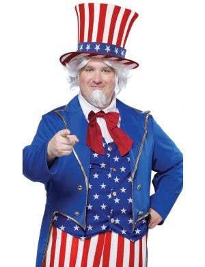 Uncle Sam Plus Size Men's Fancy Dress Costume