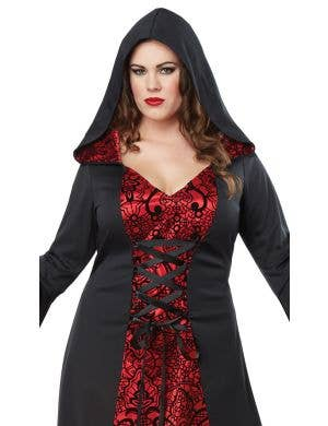 Gothic Robe Dress Women's Plus Size Halloween Costume